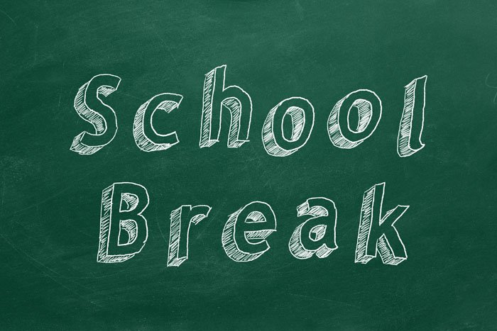 Scheduled School Break August 16 through August 25, 2019