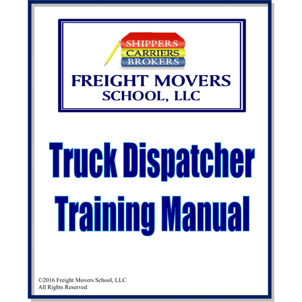 freight broker training books truck dispatcher training book rh freightmoversschool com freight broker training manual pdf Become Freight Broker